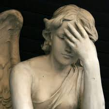 Greek angel facepalm